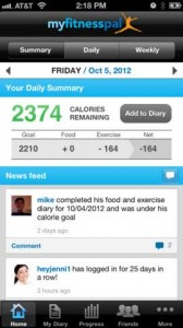My Fitness Pal Screenshot