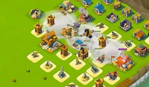 Warriors Rushing the HQ in Boom Beach