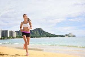 Beach Running in Hawaii