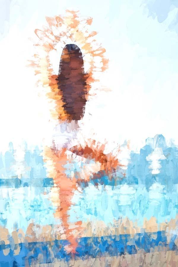 Yoga Pose - Tree Back