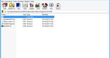 WinRAR Screenshot